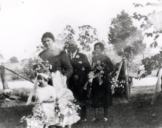 wedding processional for the wedding of Lily Iles at Owen Sound Ontario August 26, 1926