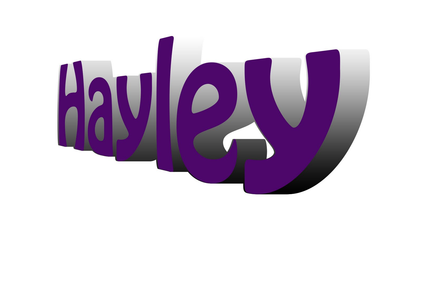 Name: Hayley: Name 3D