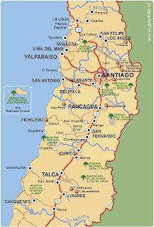 mapa zona centro Folklore De Chile: El Mapa De La Zona Centro mapa zona centro