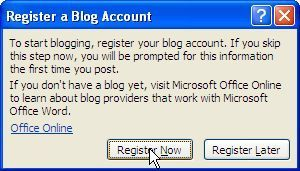 Microsoft word for blogger