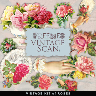Freebies Vintage Illustrations of Victorian Roses