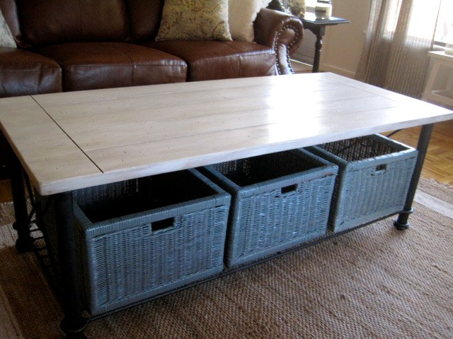 Baskets Under Coffee Table - Home Designs