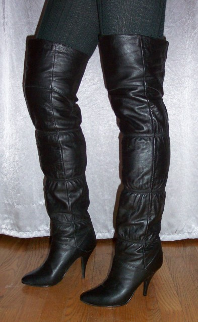 0a48154709f These vintage Clicks thigh-high boots look like some I sold on eBay a few  years ago - only modeled much better here. Although I m not a fan of the  elastic ...