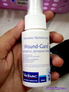 review Virbac Wound-Gard 50ml ( 1.7 floz ) Pinnacle pets supply damai kota kinabalu sabah