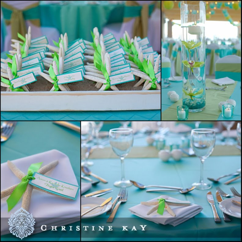 Simple Beach Wedding Ideas: Tres Chic Weddings & Events: Tiffany Inspired Destination