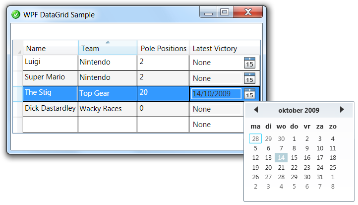 Wpf Datagrid Template Column Sorting - incorporatedlost