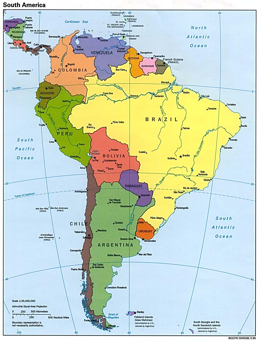 Mapa Interactivo America Politico.Mapa Interactivo America Del Sur Detraiteurvannederland