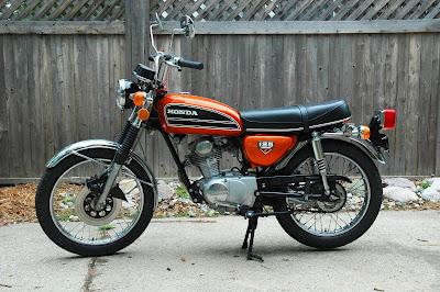 barry 39 s bikes 1974 honda cb125s. Black Bedroom Furniture Sets. Home Design Ideas