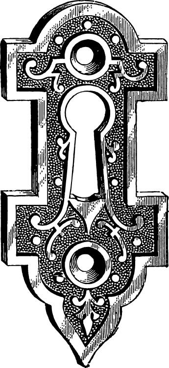 Monster Designs: clip art keyhole
