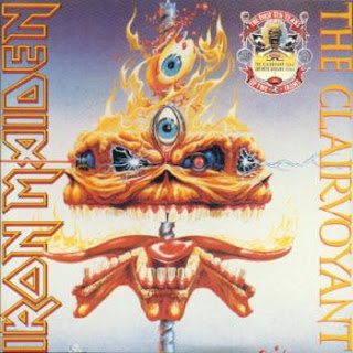 Portada Iron Maiden single the clairvoyant