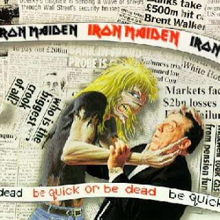 Portada Iron Maiden be quick or be dead