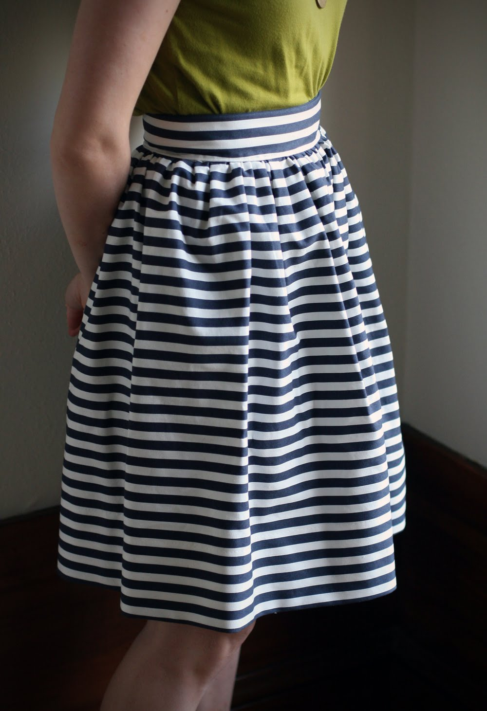 DIY: Striped Gathered Skirt - Say Yes