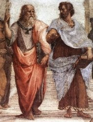 Socrates (left) and Aristotle