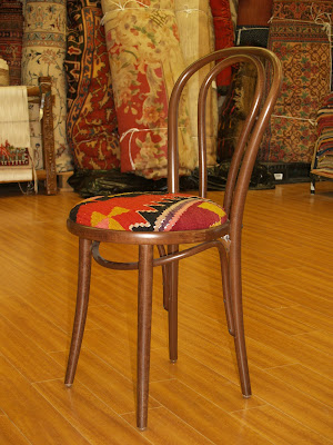 Rug Master Thonet Chair With Kilim Cover