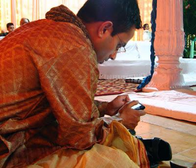 Tweeting at Wedding