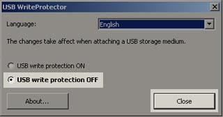 USB write protect