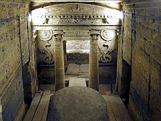 The Catacombs in Alexandria - The Royal Cemetery of Kom El-shouqafa