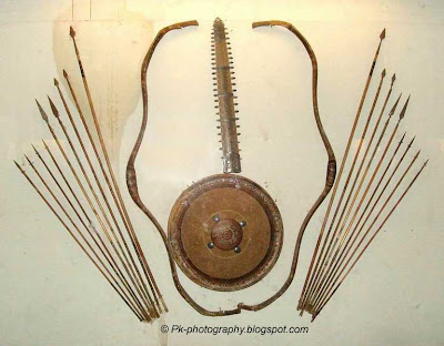 Ancient weapons Bow and Arrows