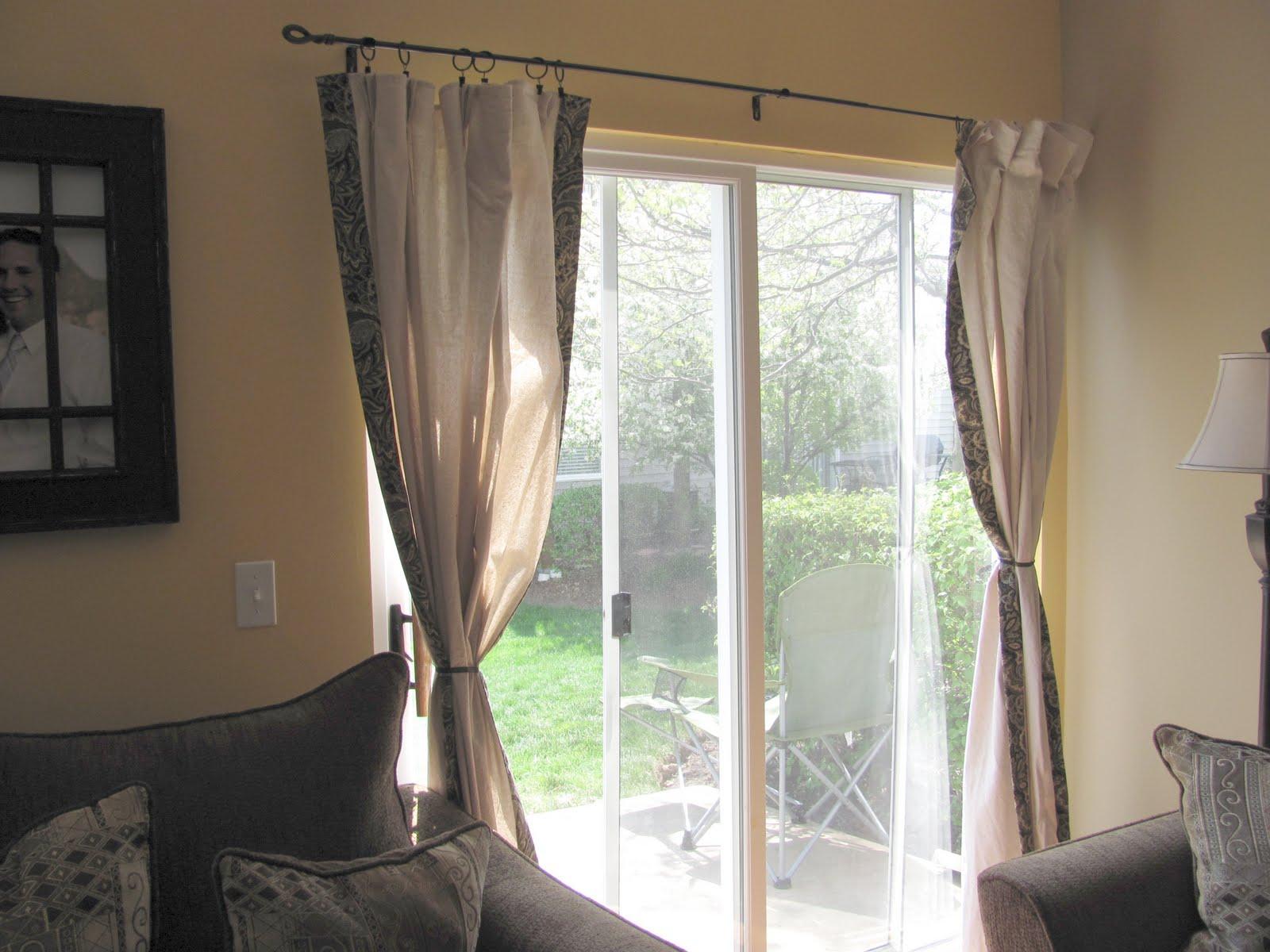 Drop Cloth Curtains Bay Window