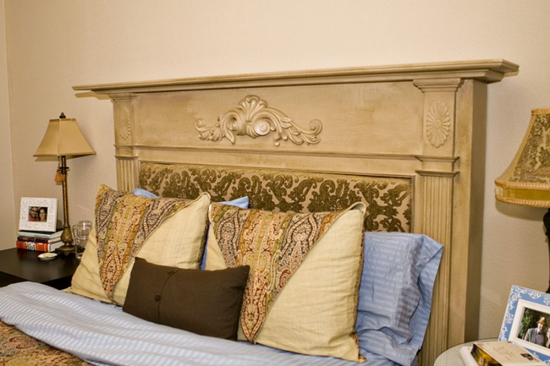 HOME DECOR INSPIRATION  Fireplace Mantle Headboard