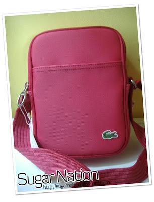 49a68297f7 Sugar Nation ) Blog Hiatus: AUTHENTIC Lacoste Sling Bag. Sweet stuff!!!