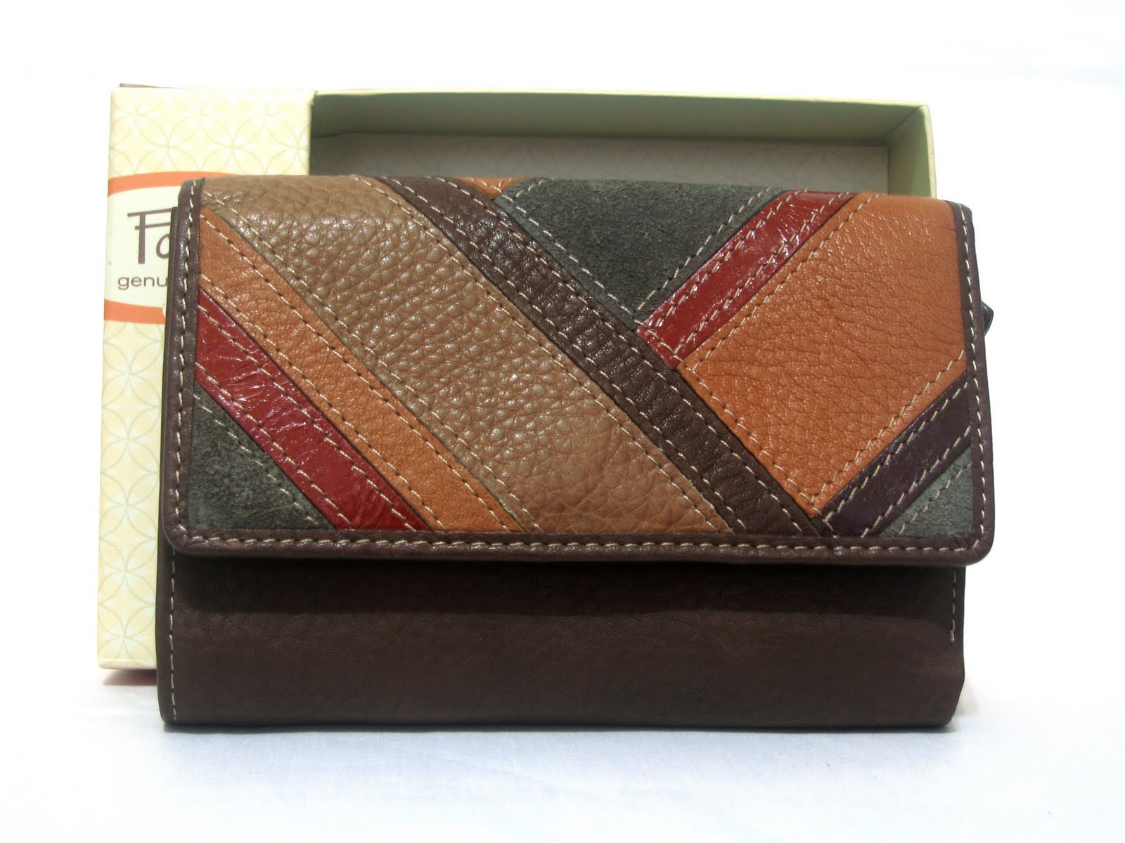 Boutique Malaysia Fossil Patchwork Multibrown Women Wallet