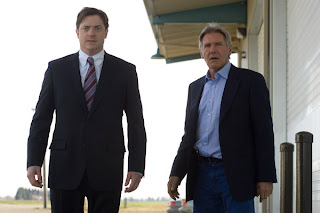 Brendan Fraser as John Crowley and Harrison Ford as Dr. Robert Stonehill in CBS Films' Extraordinary Measures.