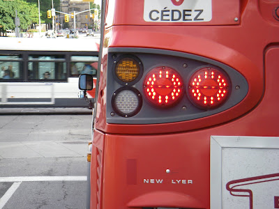 OC Transpo bus with letters rearranged to say New Lyer