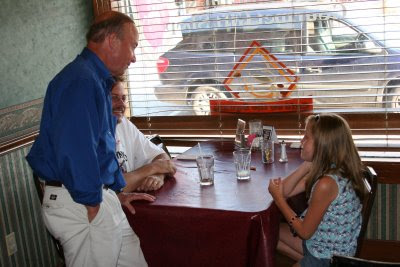 Governor Mitch Daniels visits Magdalena's in Corydon
