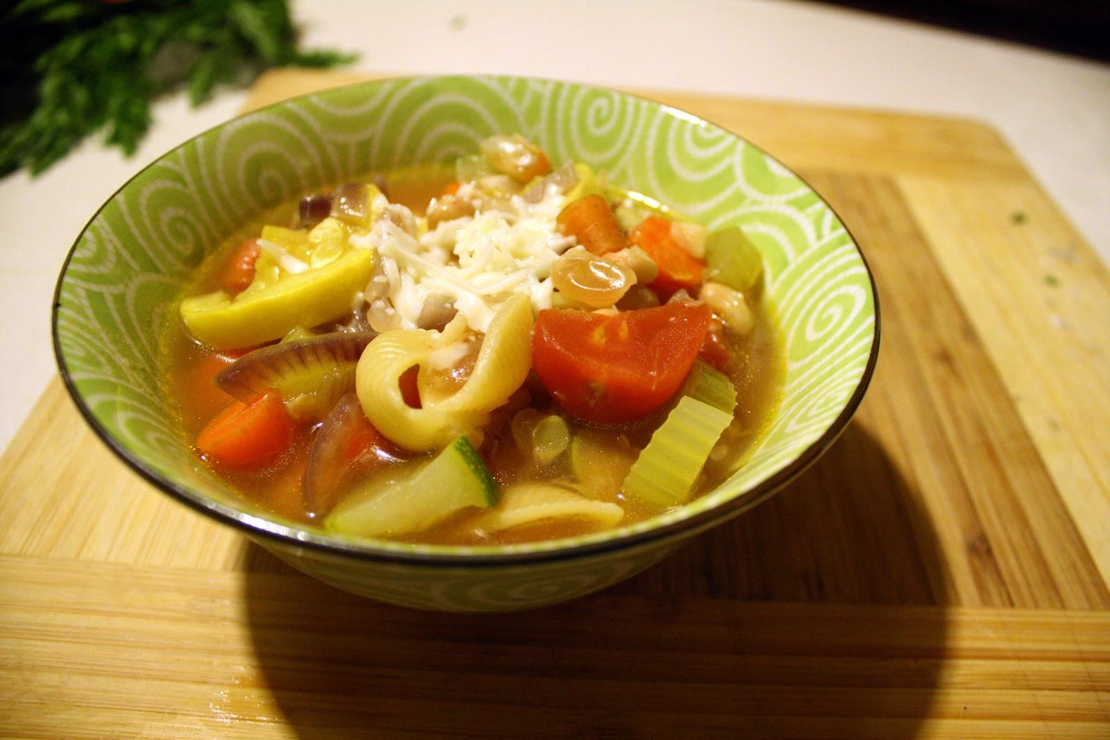 Artistic Eatables: Roasted Vegetable Minestrone