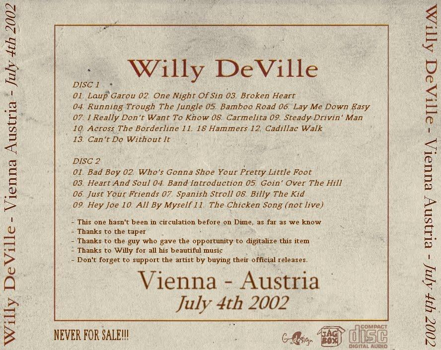 Lyric carmelita lyrics : Willy DeVille International Fans: December 2010