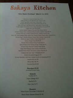 Dim Ssam Brunch Menu