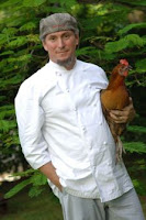 Michael Schwartz and a chicken