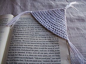 Crocheted Corner Bookmark