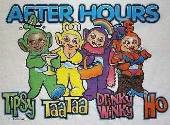 cartoon of tele-tubbies after hours
