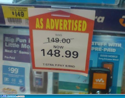photo of a funny discount sign