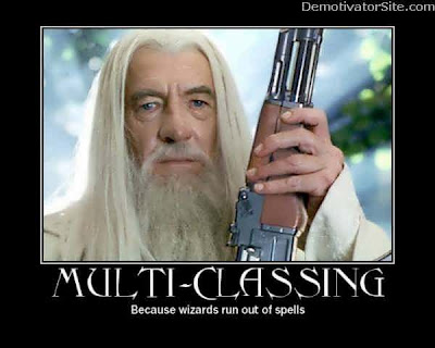 photo of Gandalf with a gun