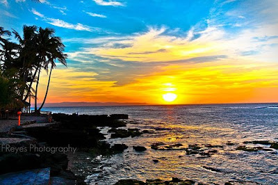 Pagudpud beach sunset by Franklin Reyes Jr.