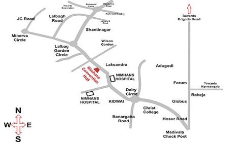 NIMHANS: Route map of NIMHANS