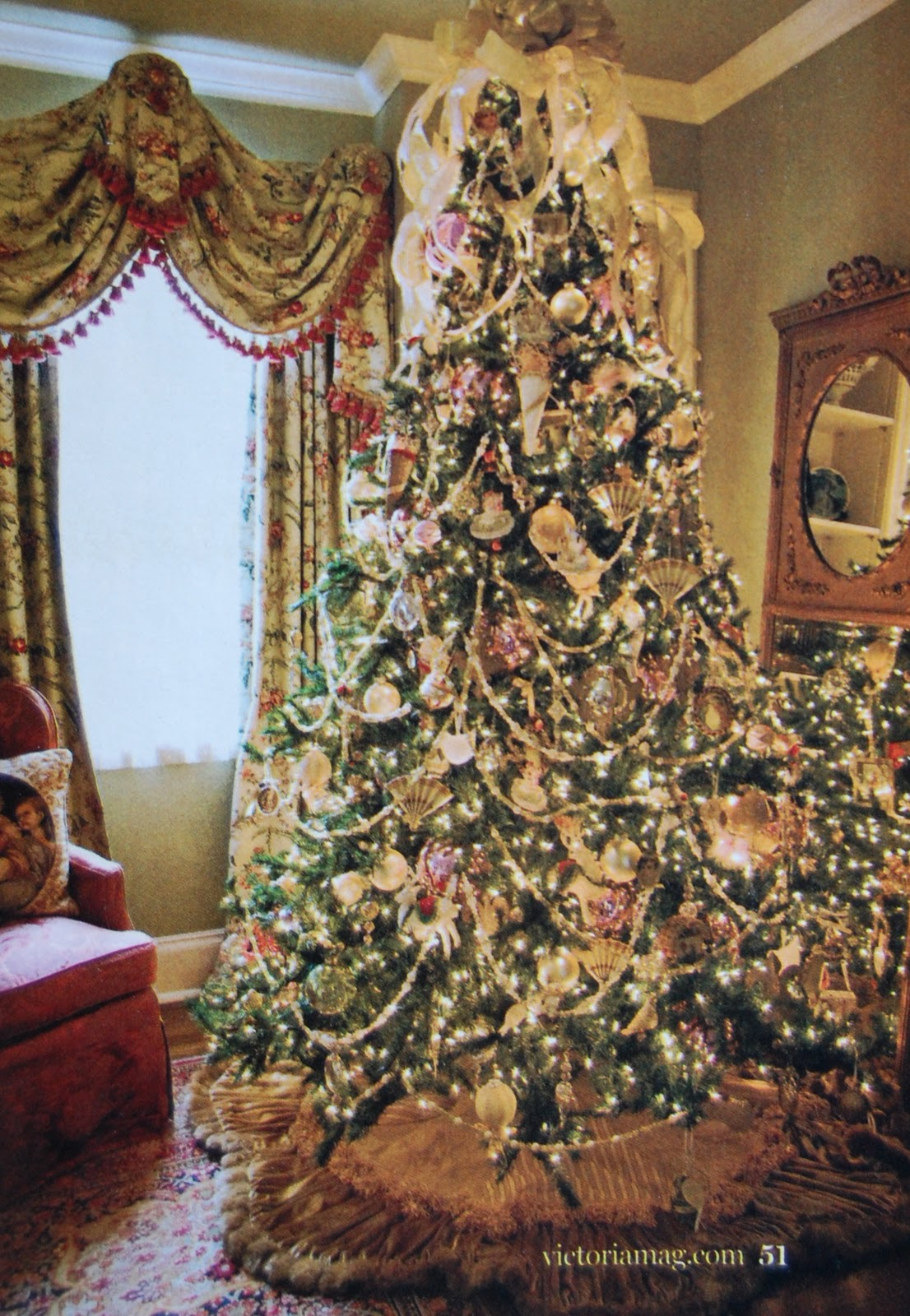 Beautiful Victorian Christmas Trees