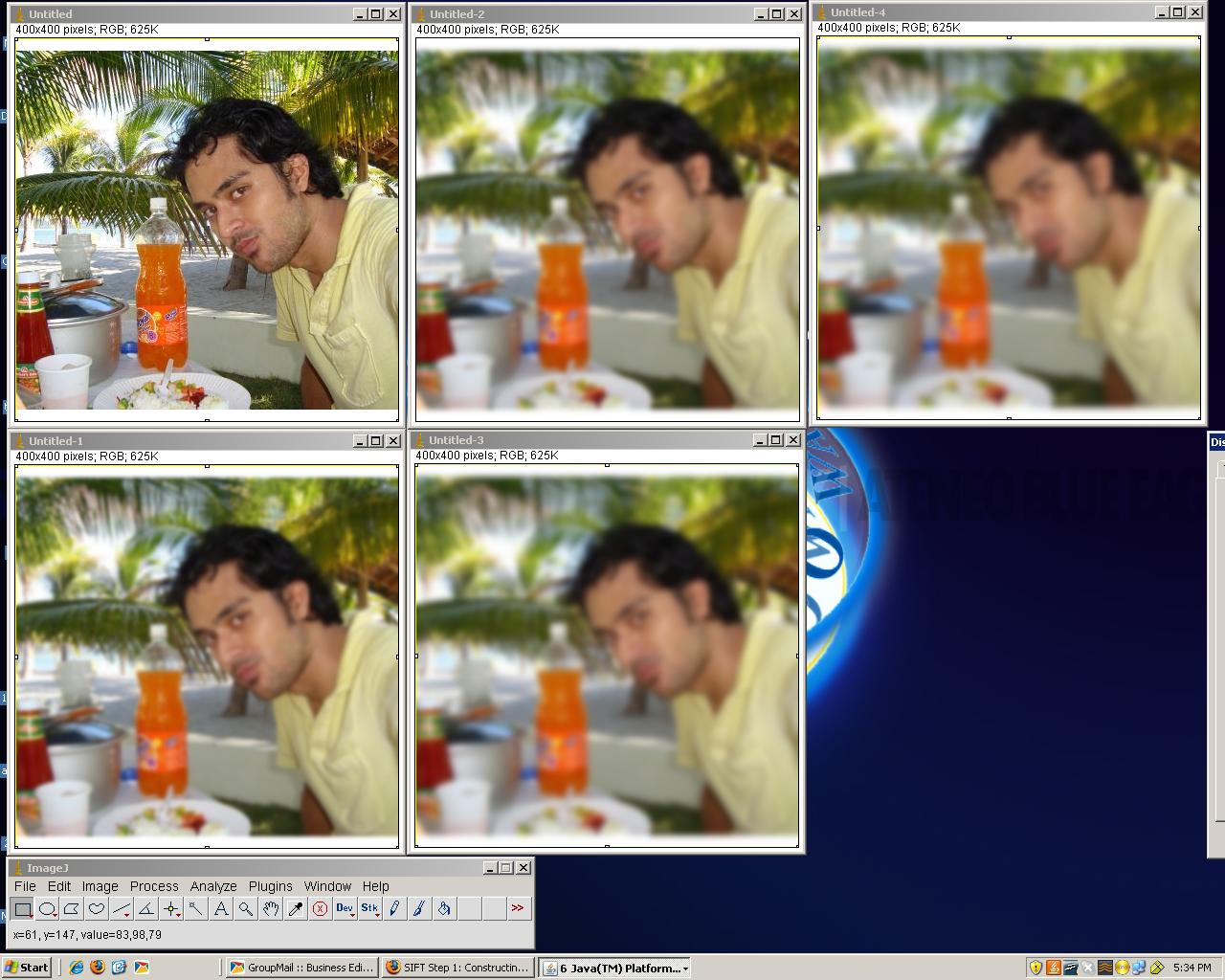 Matlab - Working with Videos: Details behind SIFT Feature detection