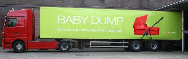Baby-Dump vrachtwagen