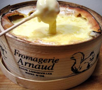 Recette fondue fromage vacherin et patates au lard (Cuisine franc comtoise, suisse) 4