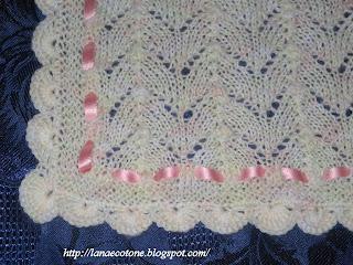 fabbricazione abile dettagliare primo sguardo Lana e Cotone (maglia e uncinetto): Copertina a ferri