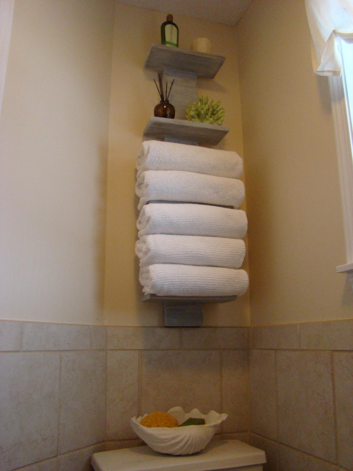 .: My bath FINALLY gets some towel storage!