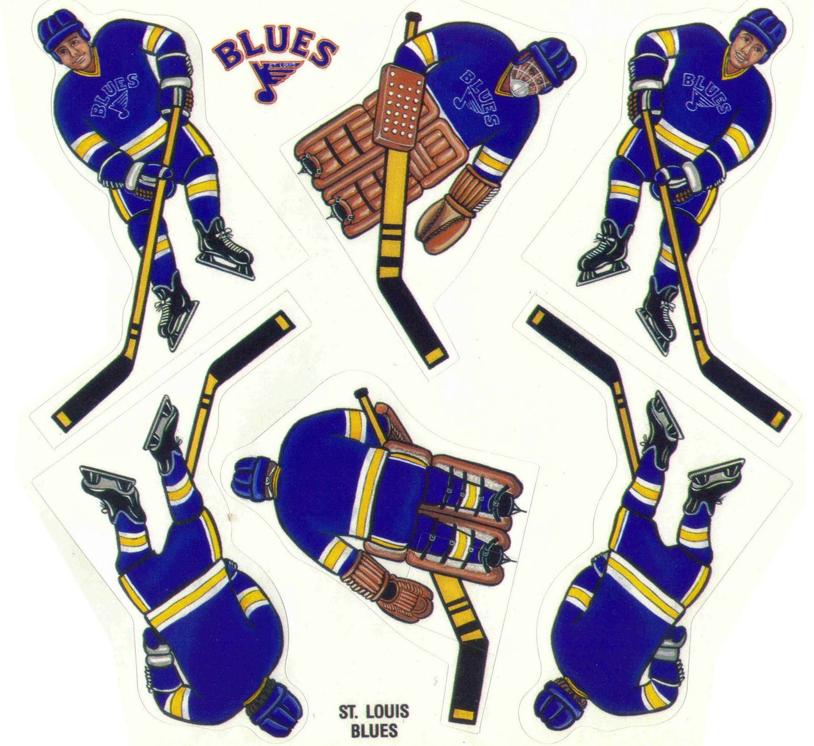 image about St Louis Blues Printable Schedule titled CD Lifestuff: Coleco Printable Hockey Gamers: Element 17: St