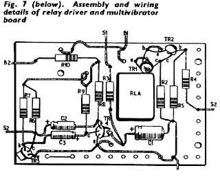 proton precession magnetometer: Relay Driver and Multivibrator