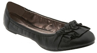 Comfy Flat Black Work Shoes