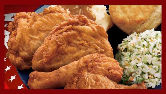 Kentucky Fried Chicken Meal: KENTUCKY FRIED CHICKEN MENU: Half Chicken Meal