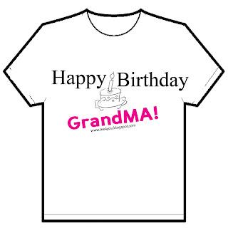 Happy Birthday GrandMA Code No T4U 3